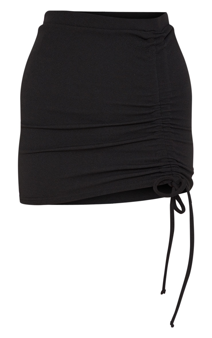 Black Ruche Detail Mini Skirt 3