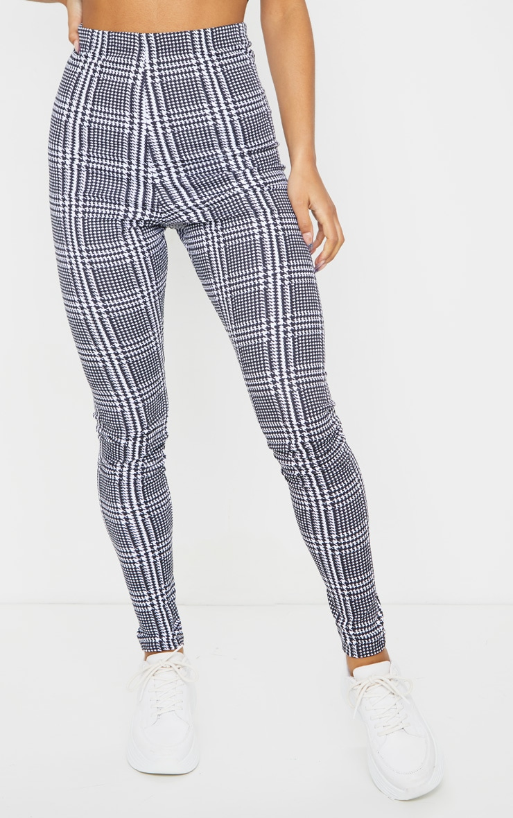 Monochrome Check Basic Leggings 2