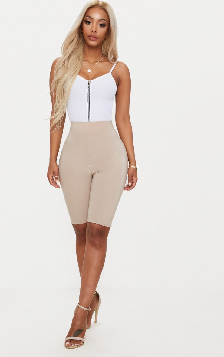 Shape White Ribbed Ring Pull Bodysuit 5