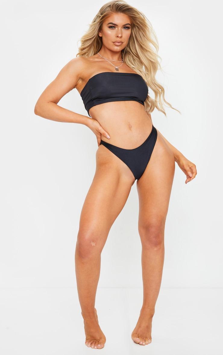 Black Mix & Match Longline Bandeau Bikini Top 3