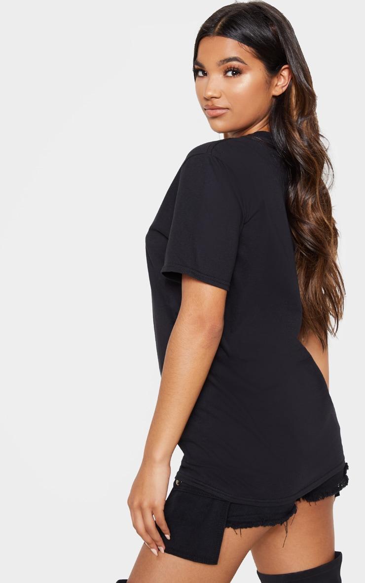 Tee-shirt oversize noir à imprimé The Godfather 2