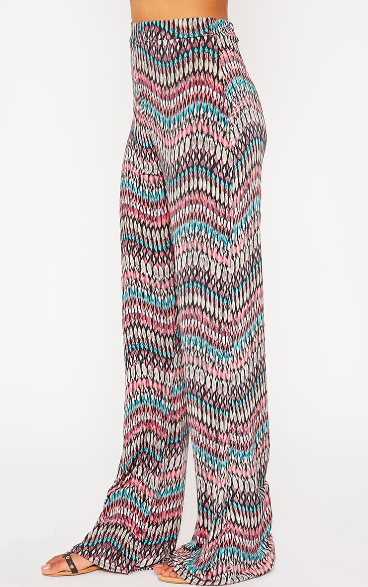 Keris Feather Print Wide Leg Trousers 3