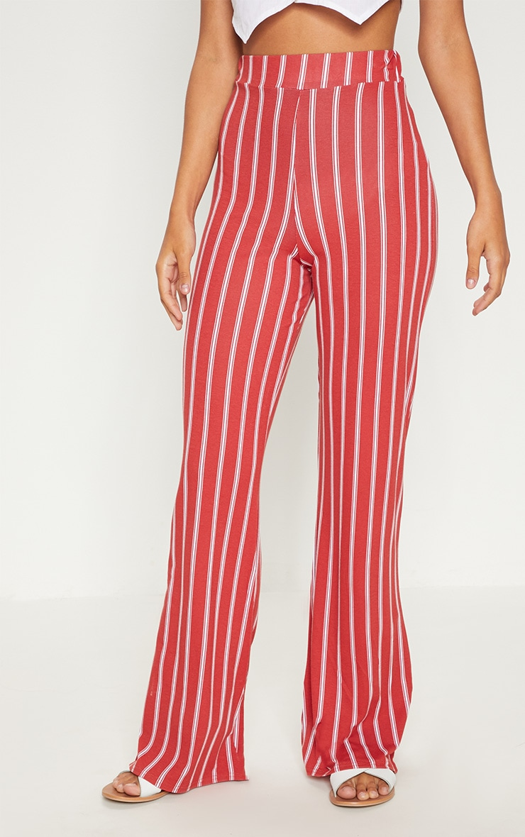 Rust Jersey Printed Wide Leg Trouser  2
