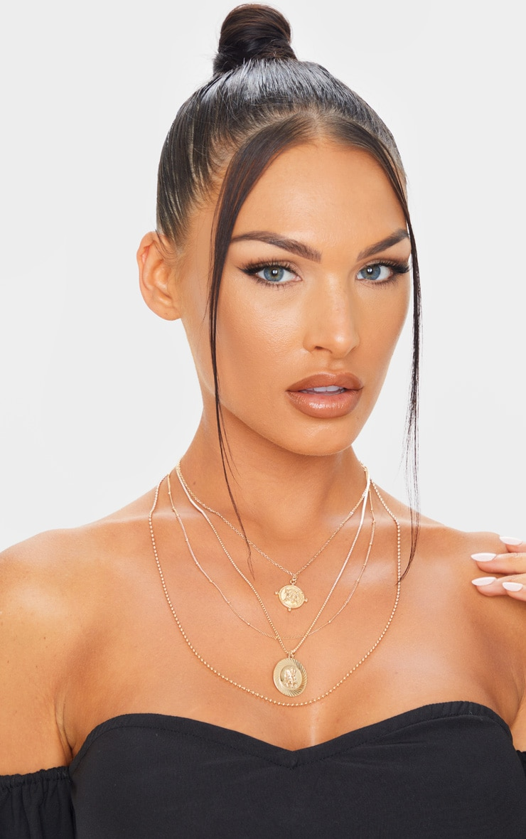 Gold Multi Layer Assorted Necklace 1