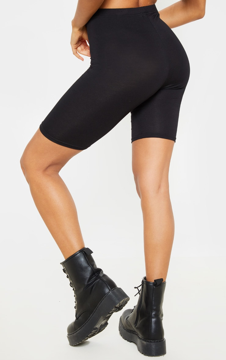 Basic Black Cotton Blend 2 Pack Cycle Shorts 4