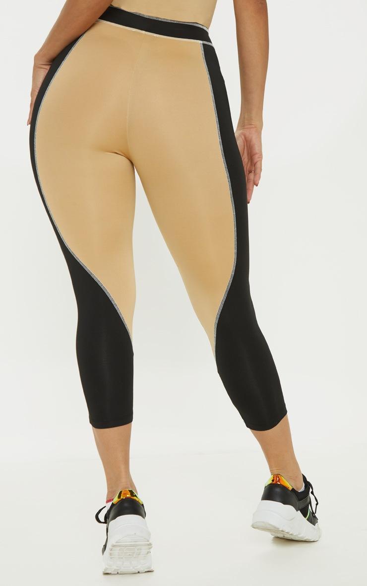 Contrast Stitch Cropped Gym Legging 4
