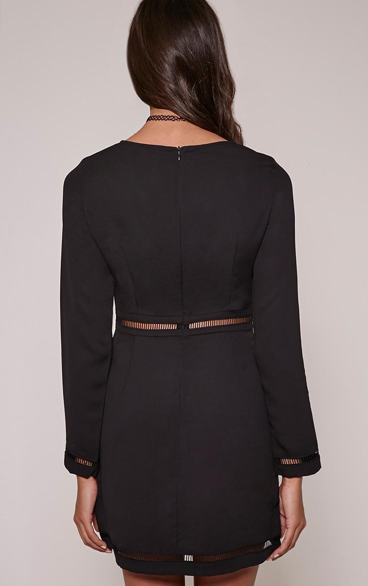 Essy Black Ladder Detail Mini Dress 2