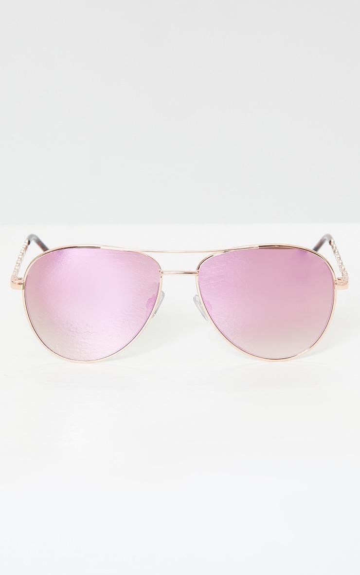 Pink Ombre Lens Aviator Sunglasses 2