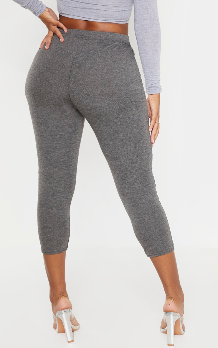 Shape Charcoal Jersey Cropped Leggings 4