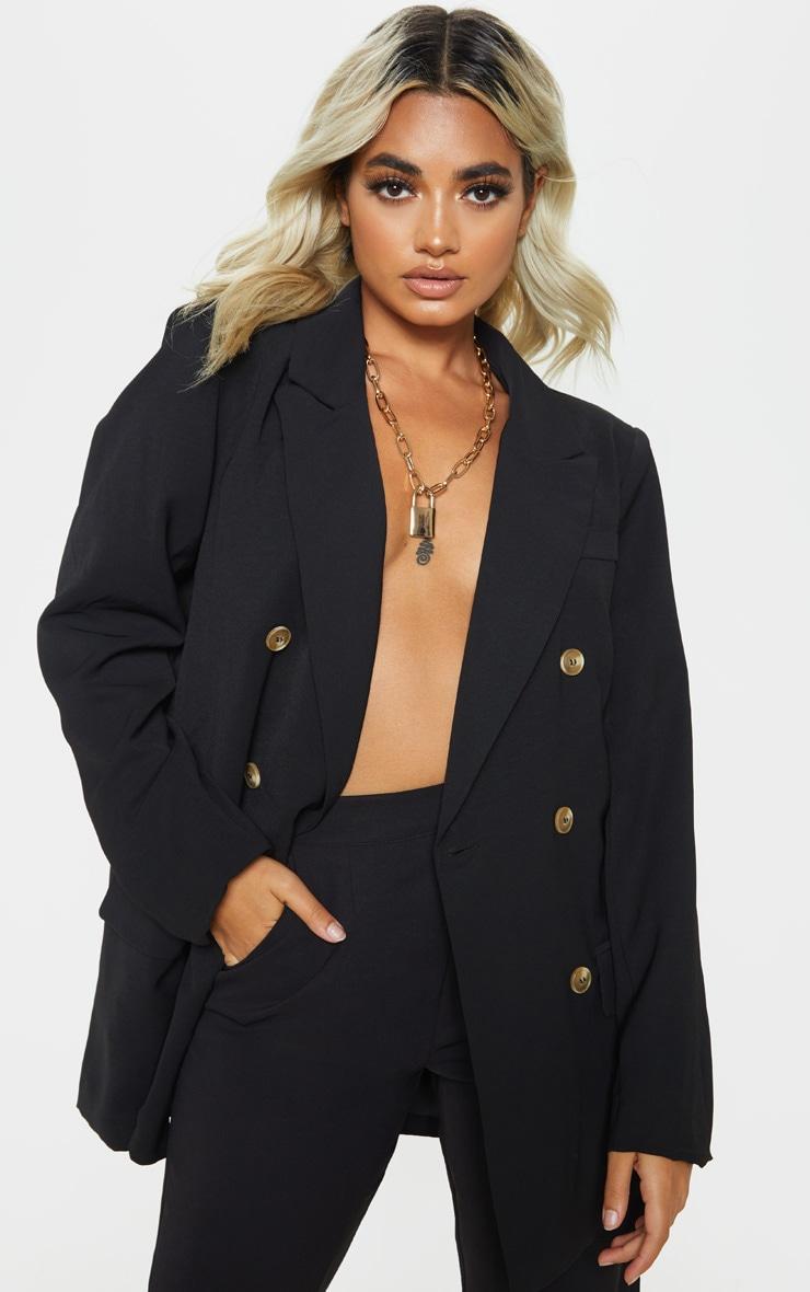 Petite - Veste de tailleur oversize noire 1