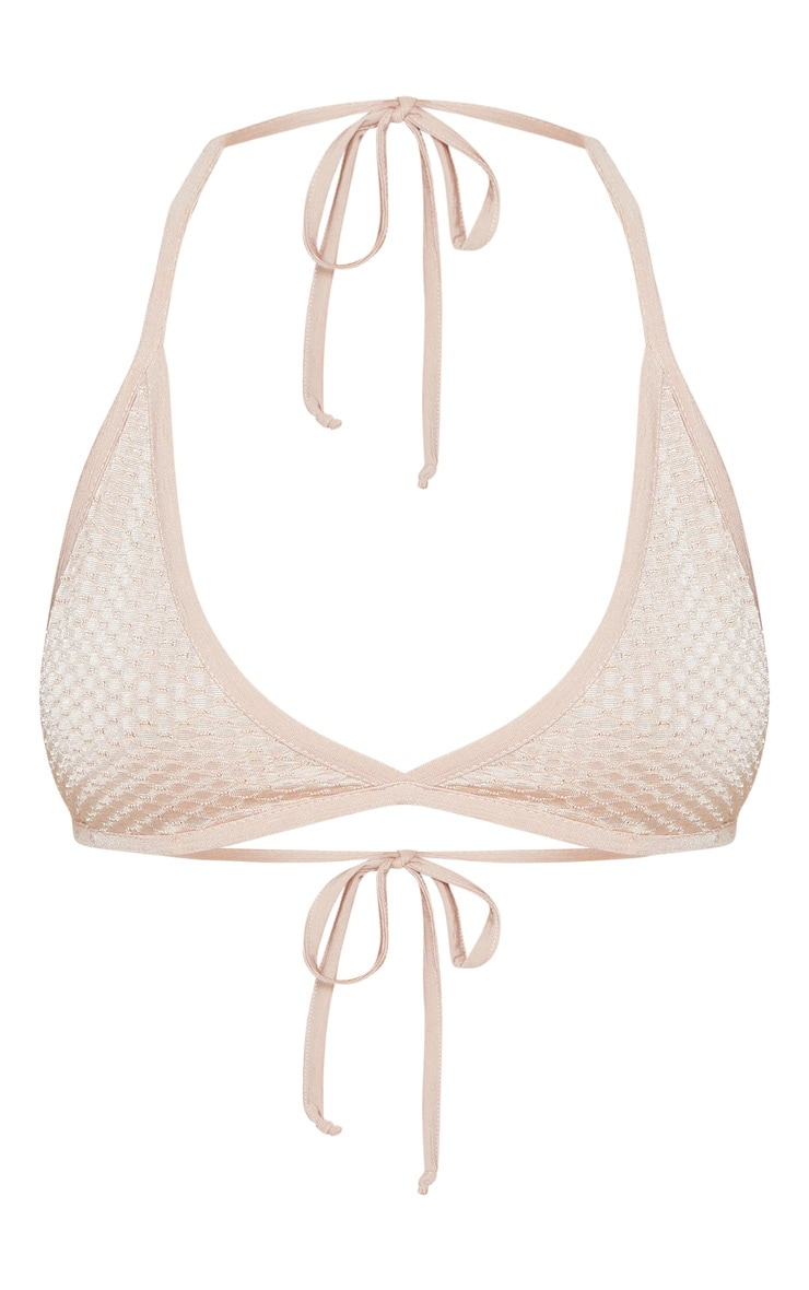 Rose Gold Textured Slinky Bralet 3