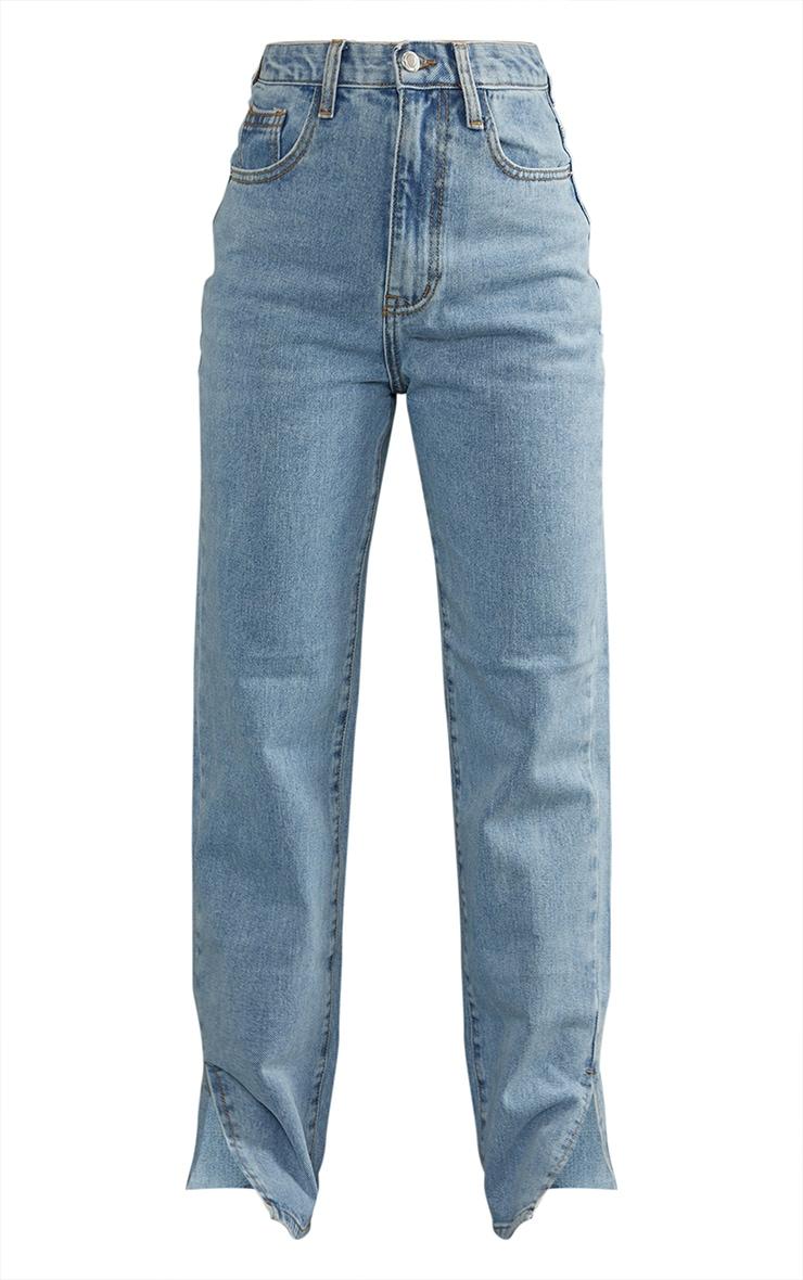 Petite Light Wash Split Hem Jeans 5