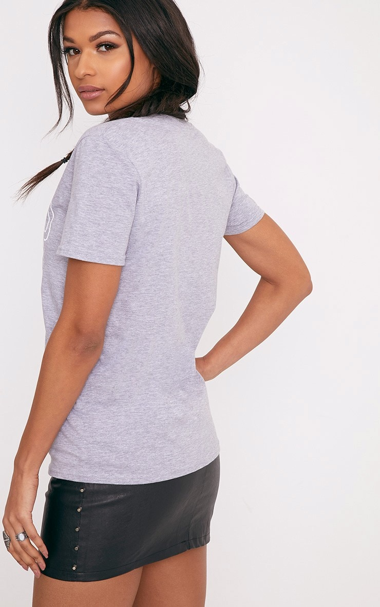 SACRED Slogan Grey Eyelet T Shirt 2