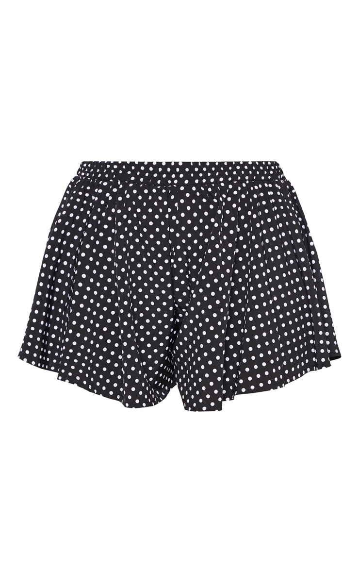 Plus Black Polka Dot Floaty Short  3