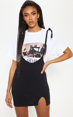 bas prix 97266 f1f67 Mini-jupe noire style salopette
