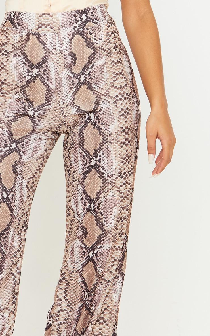 Stone Velvet Snake Wide Leg Pants 5