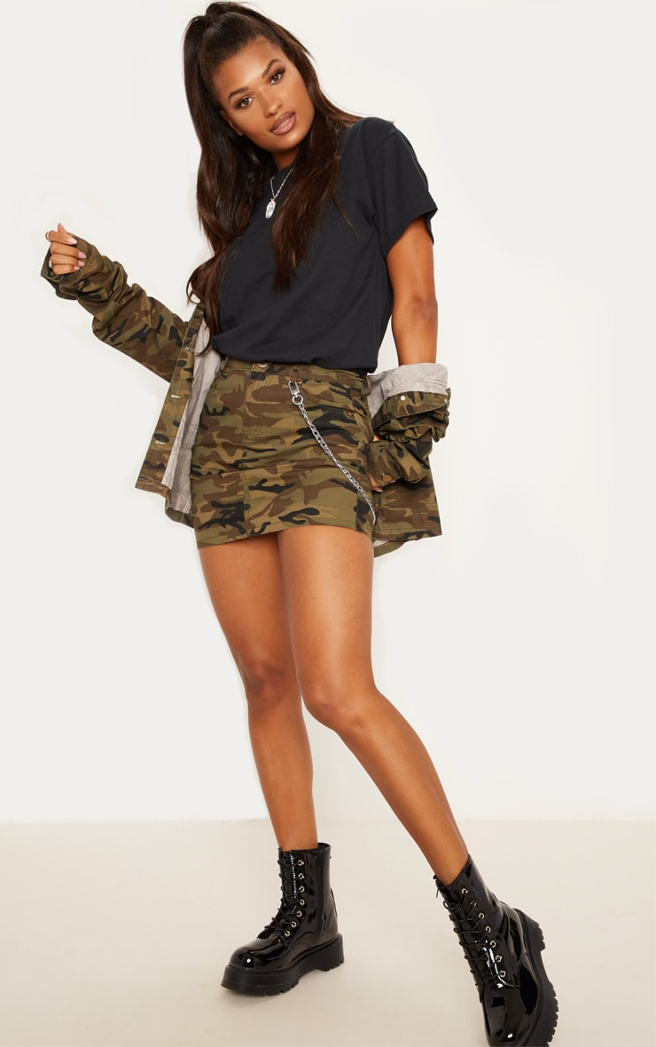Camo Denim Skirt  1