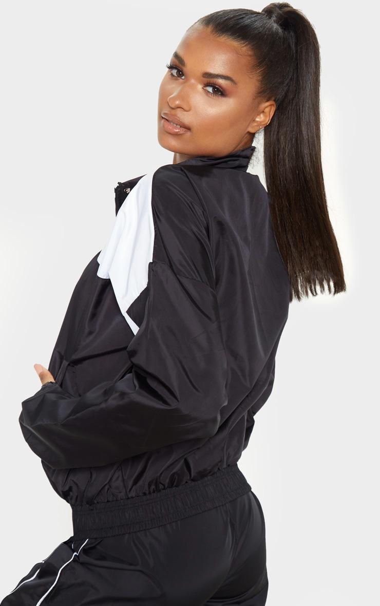 Black Oversized Shell Tracksuit Jacket 2