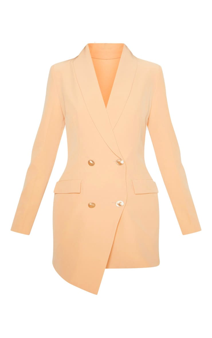 Nude Gold Button Blazer Dress 3