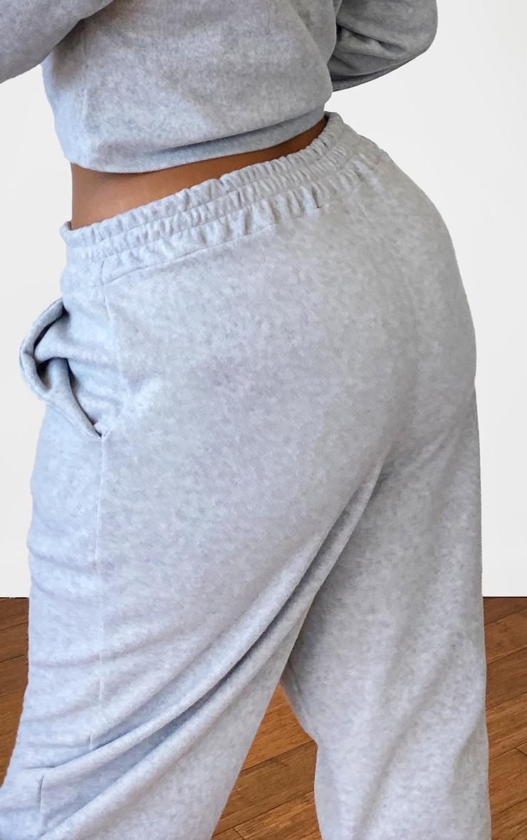 Plus Grey Brushed Sweat Oversized Joggers 3