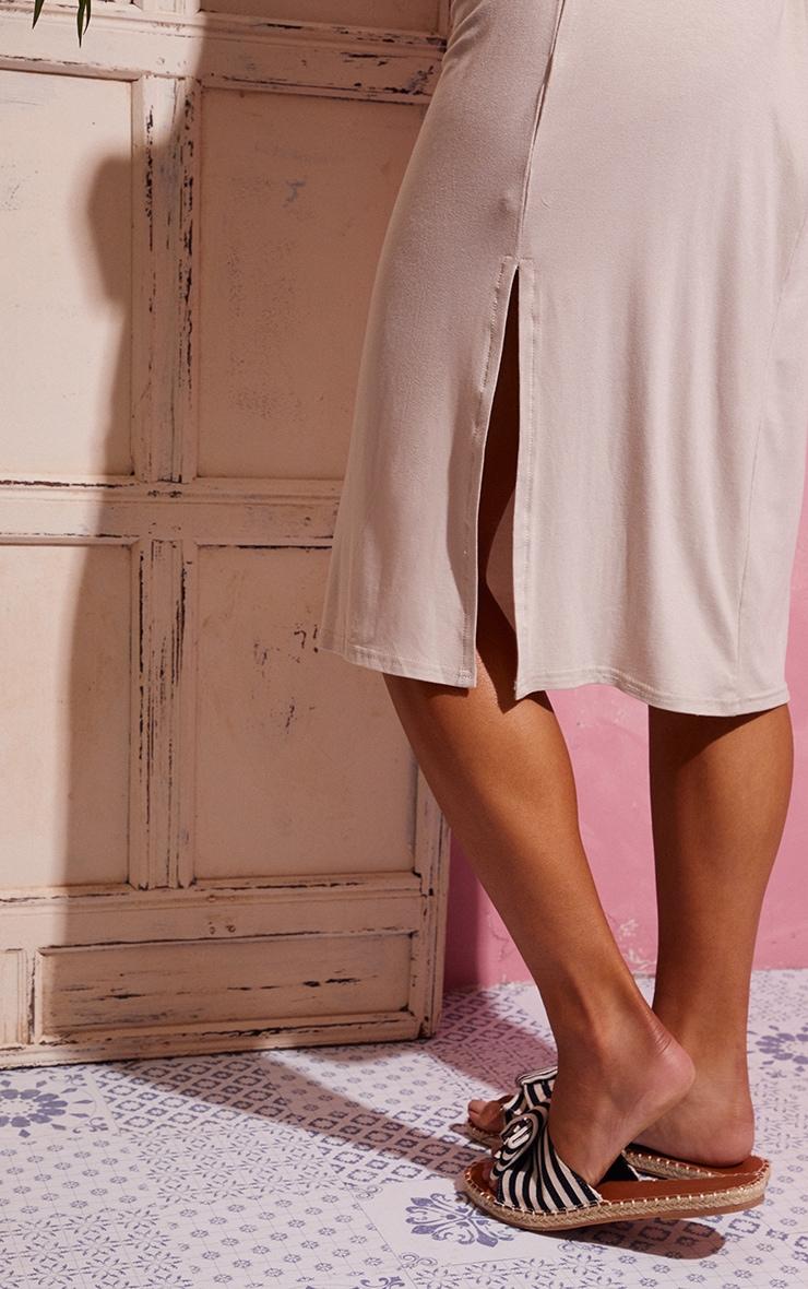 Stone Backless Strappy Midi Dress 4