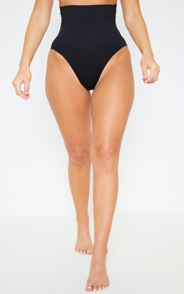 Culotte gainante noire à taille haute 2