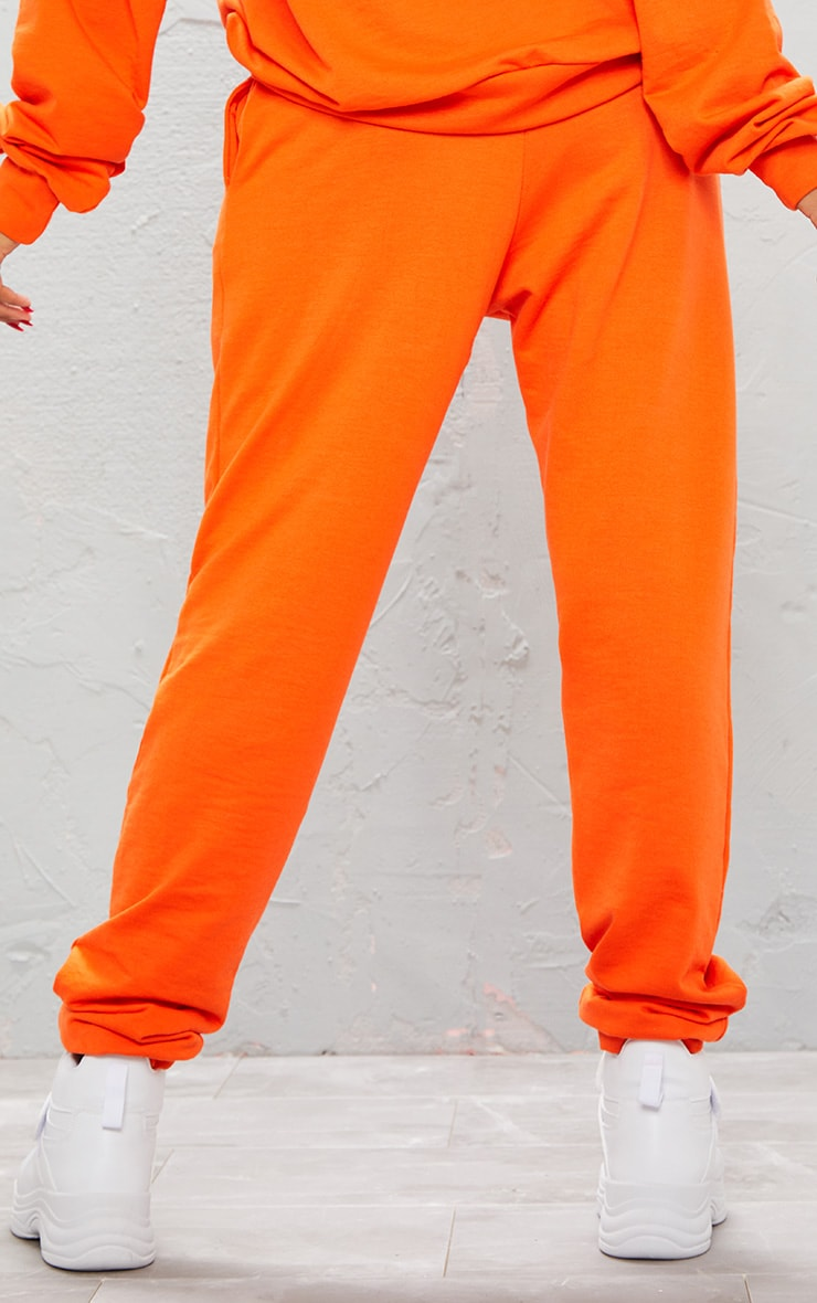 KARL KANI Orange Embroidered Joggers  5