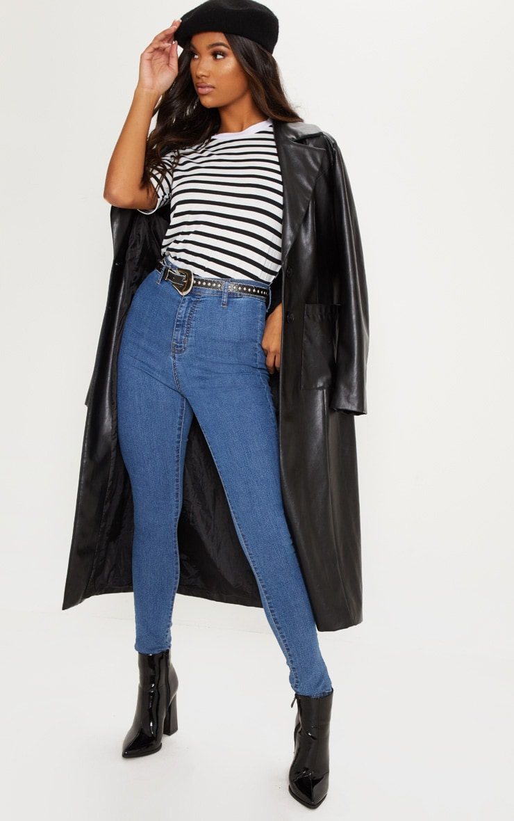 Mid Wash Disco Fit Skinny Jean
