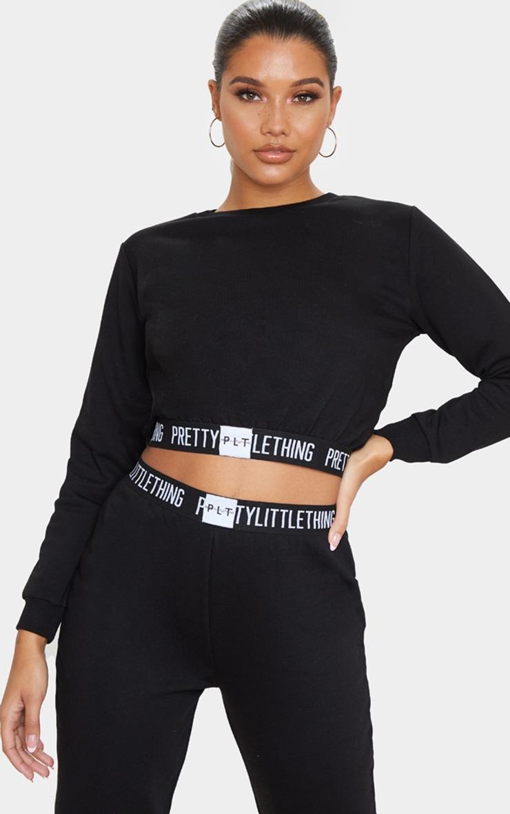 PRETTYLITTLETHING Black Lounge Sweatshirt 1