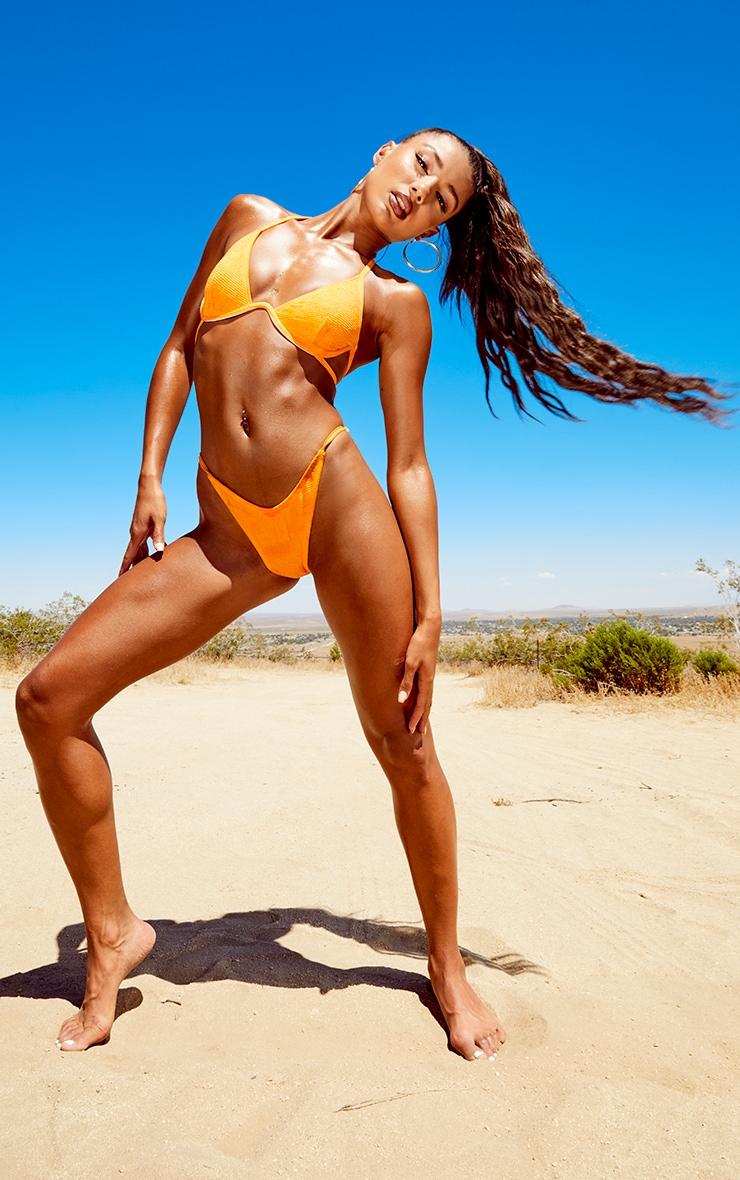 Tangerine Mini Crinkle Underwired Bikini Top 3