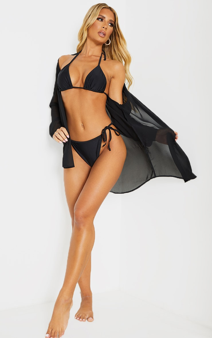 Recycled Mix & Match Black Triangle Bikini Top 3