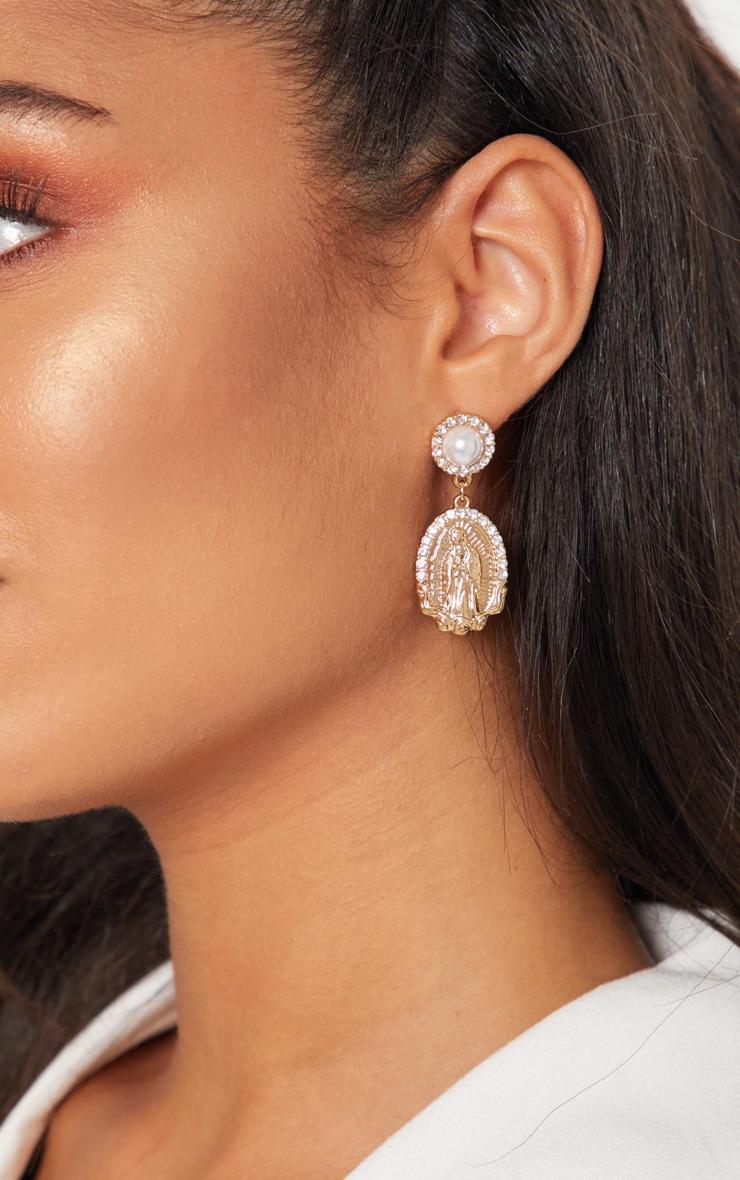 Gold Renaissance Pearl Earrings
