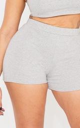 fe523e9c8f Shape Grey High Waisted Sweat Shorts | Curve | PrettyLittleThing