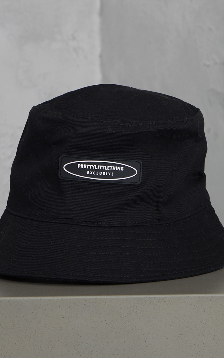 PRETTYLITTLETHING Exclusive Black Bucket Hat 3