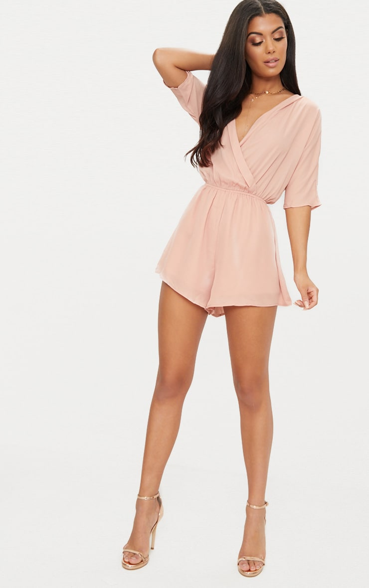 Bobby Nude Wrap Front Playsuit 4