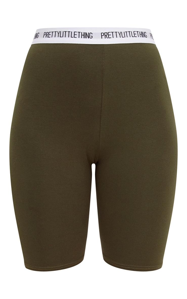 PRETTYLITTLETHING Khaki Cycle Shorts 3