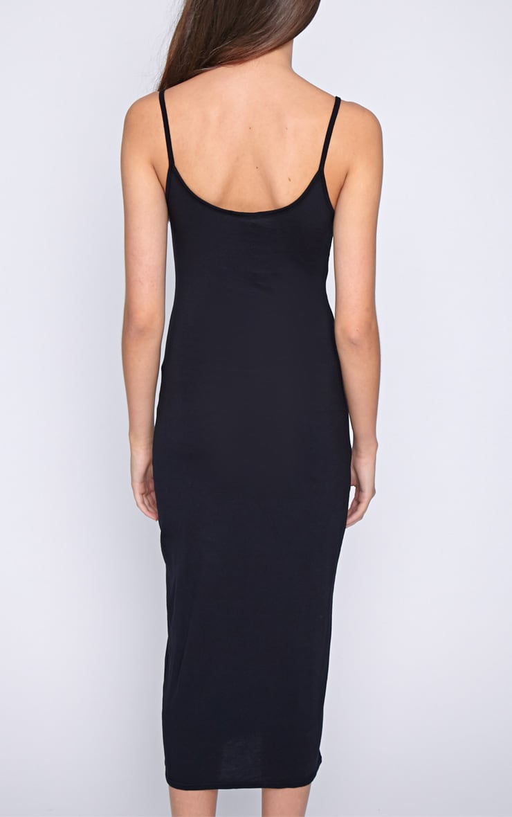 Madelyn Black Midi Vest Dress 2