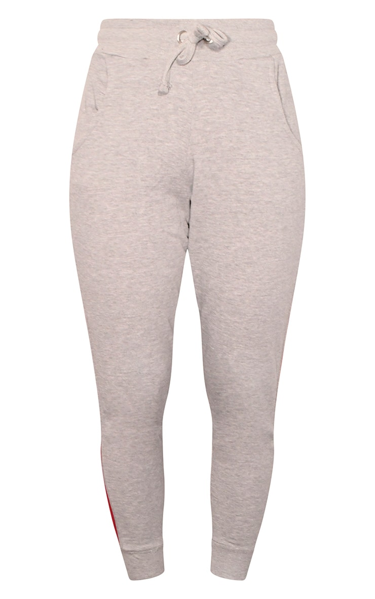 Grey Side Stripe Detailed Joggers 5