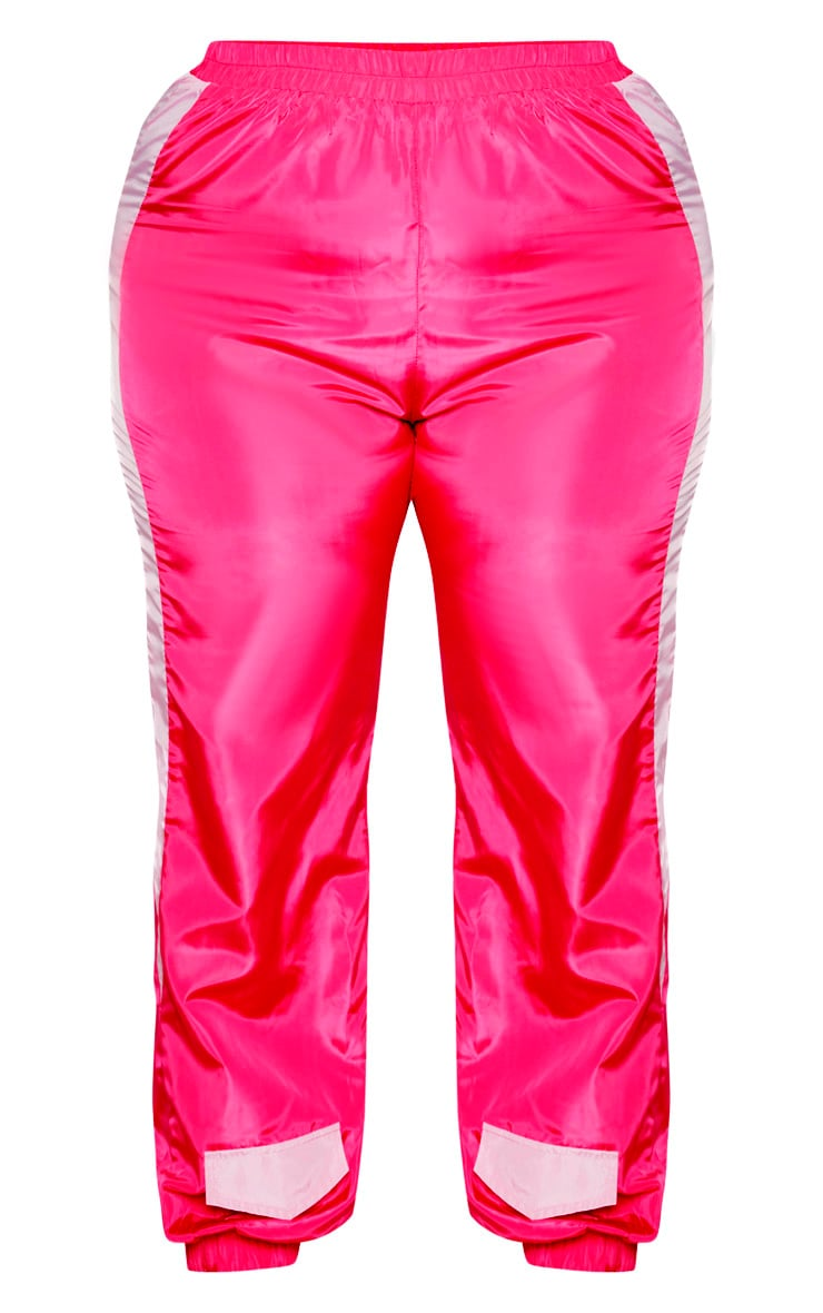 Plus Pink Double Waist Band Shell Joggers 3