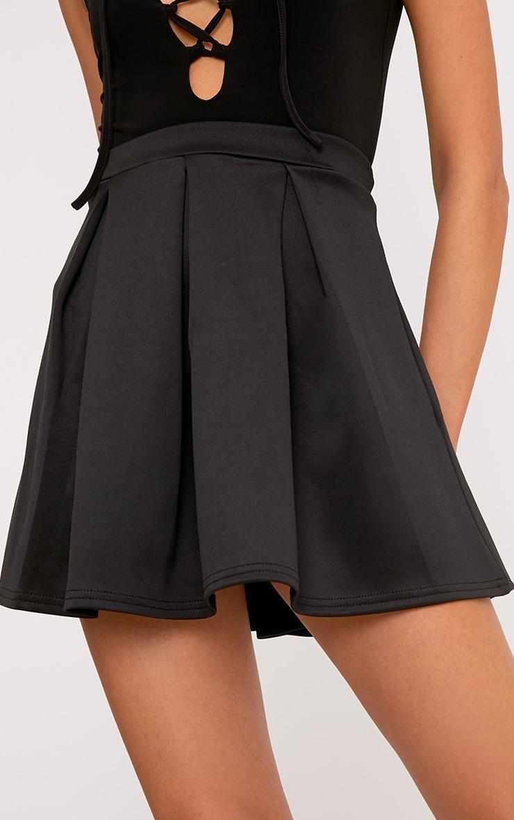 Rosabela Black Box Pleat Skater Mini Skirt  6