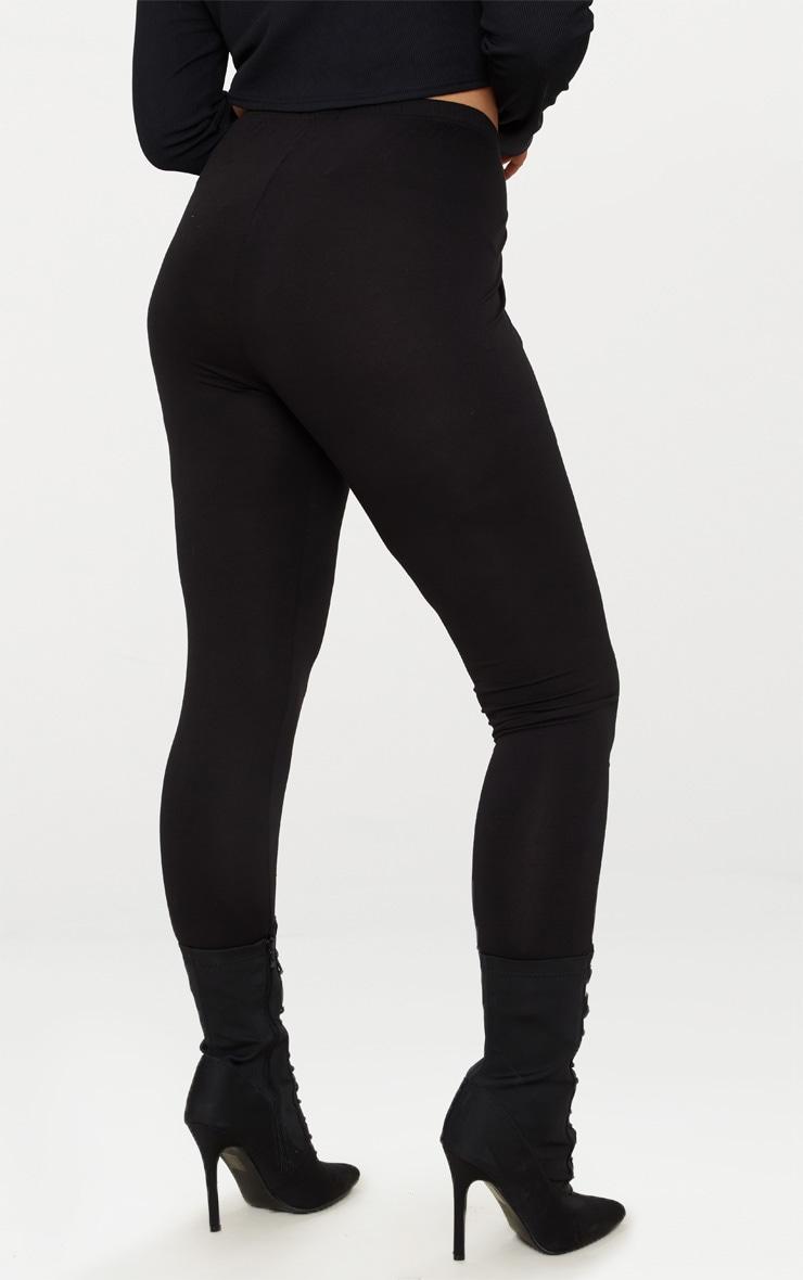 Plus Black Jersey Leggings 4