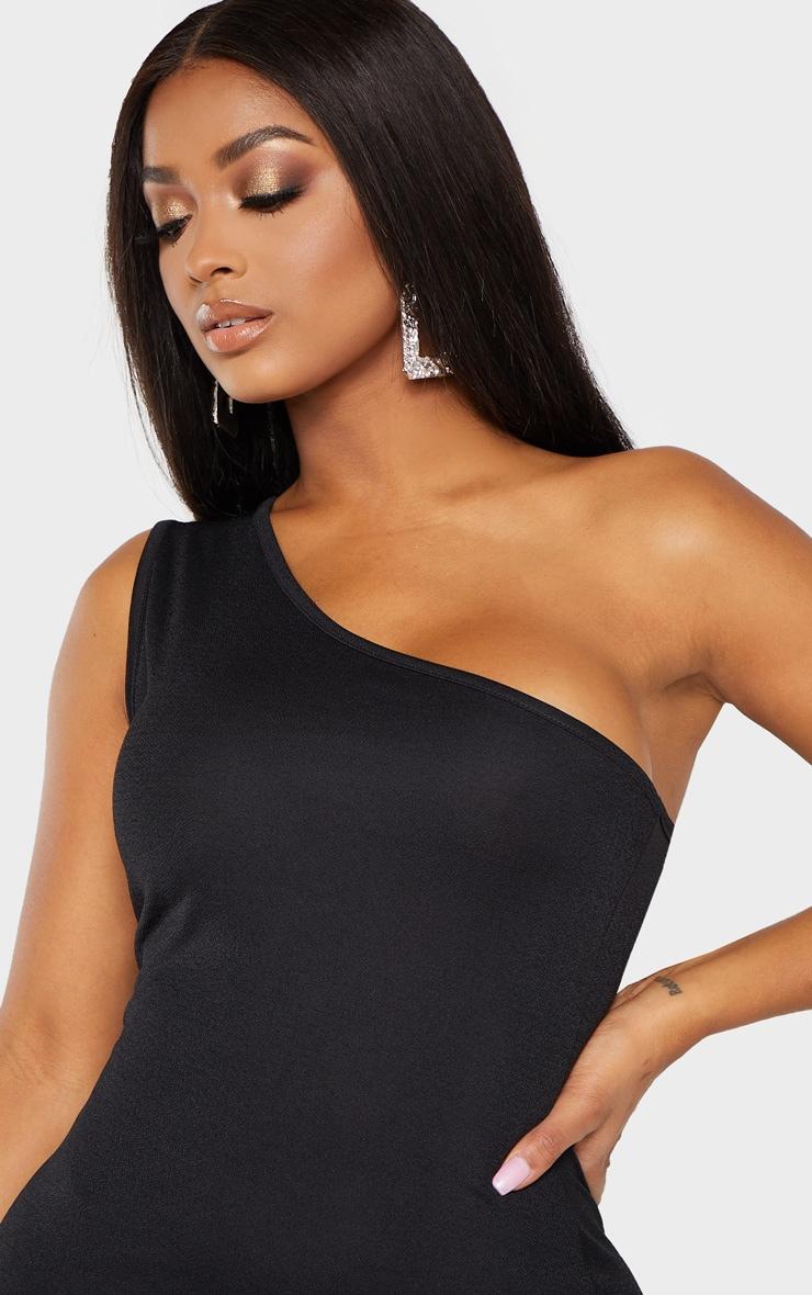Shape black one shoulder split bodycon dress england style
