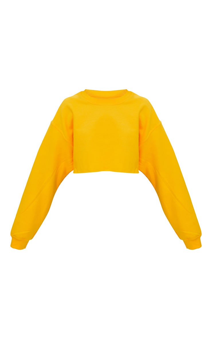Yellow Ultimate Cropped Sweater 3