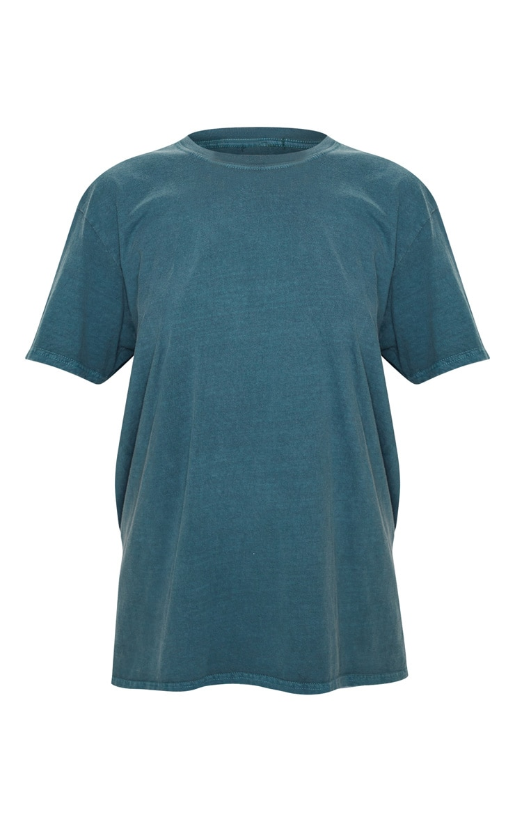 Teal Washed Oversized T Shirt 3