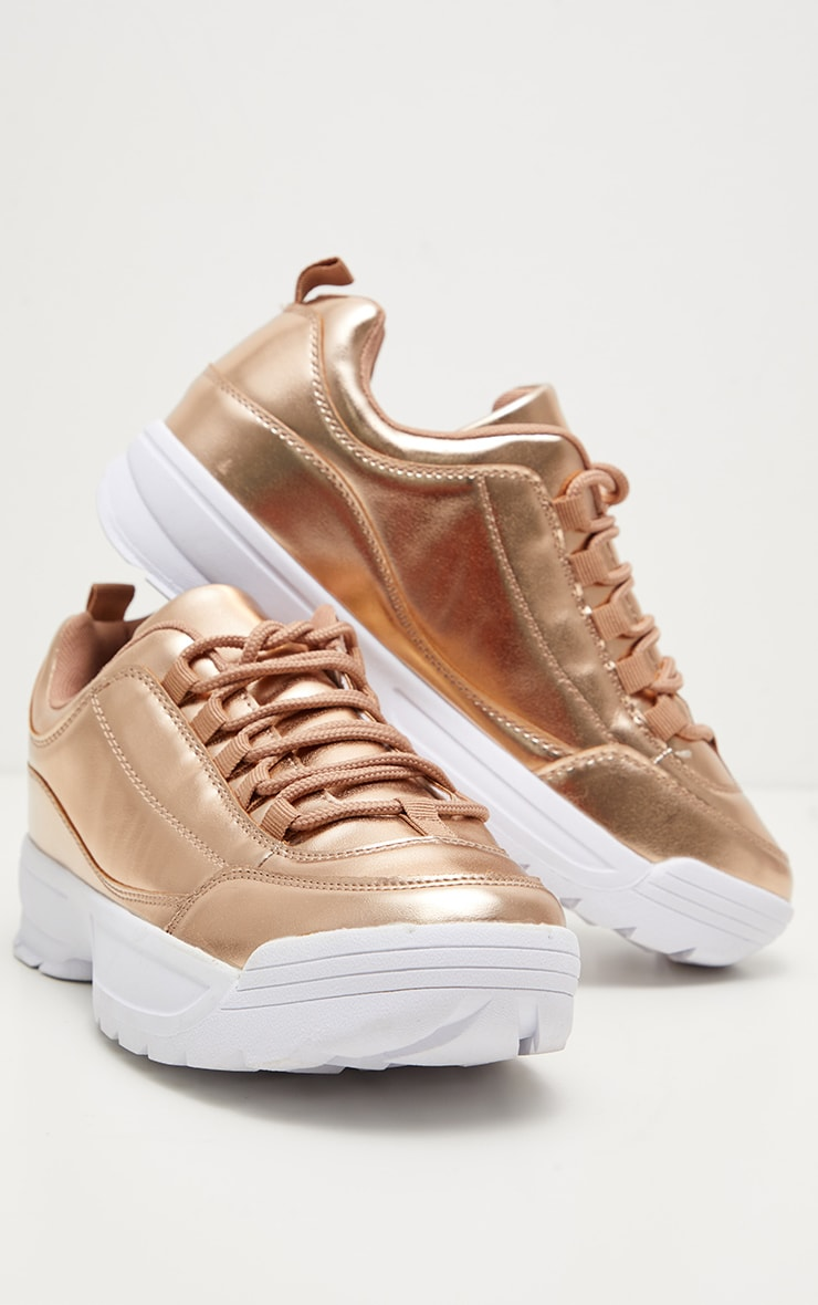 Pink Chunky Cleated Sole Trainer 3