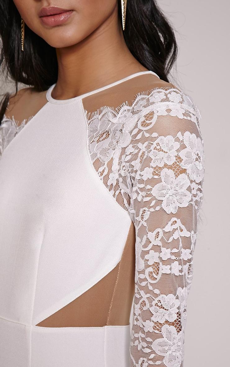 Zoe Cream Lace Detail Mini Dress 5