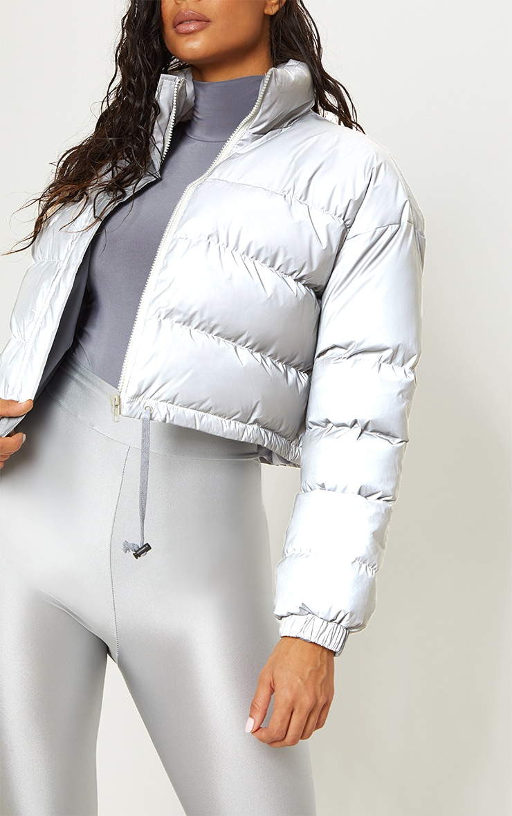Grey Reflective Puffer Jacket  5
