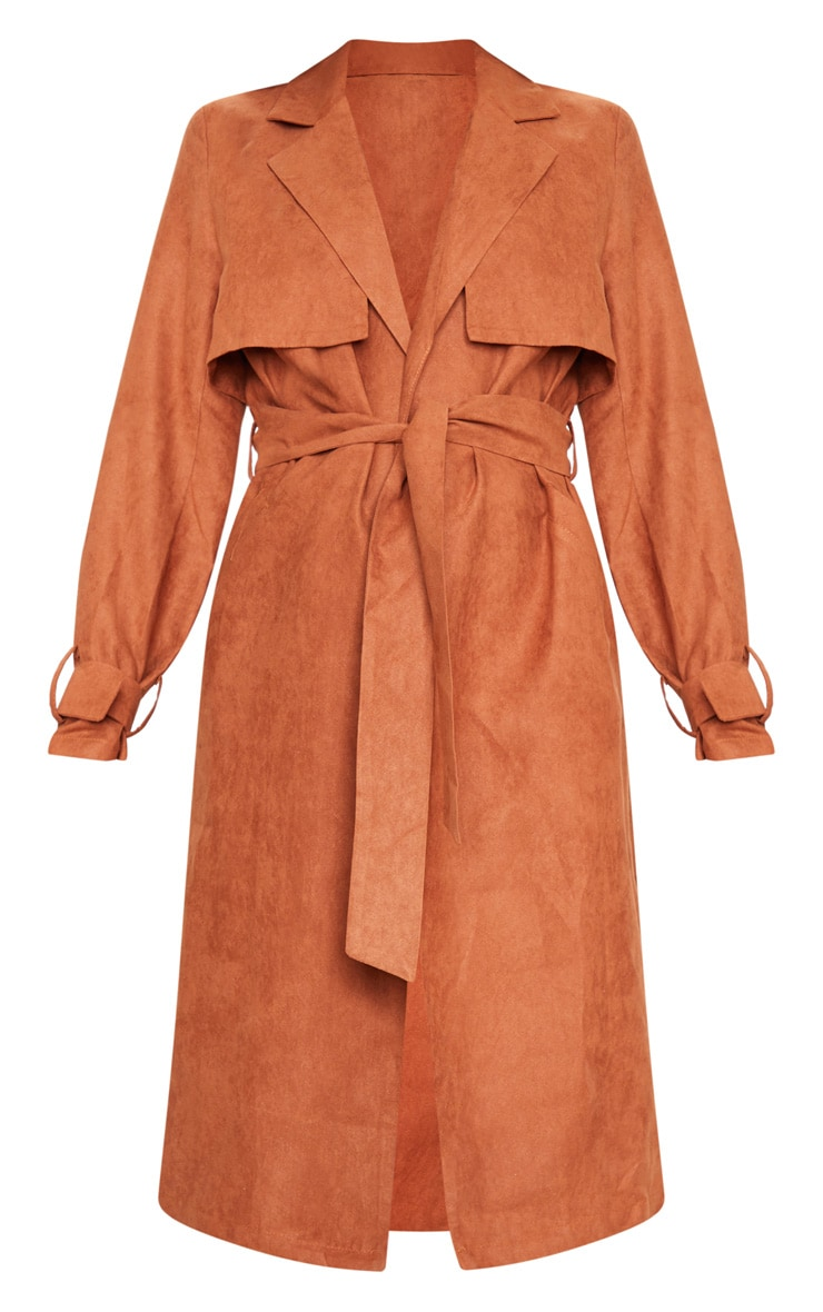 Brown Faux Suede Trench 5