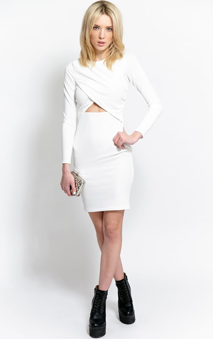 Diana White Cut-Out Bodycon Midi Dress 3