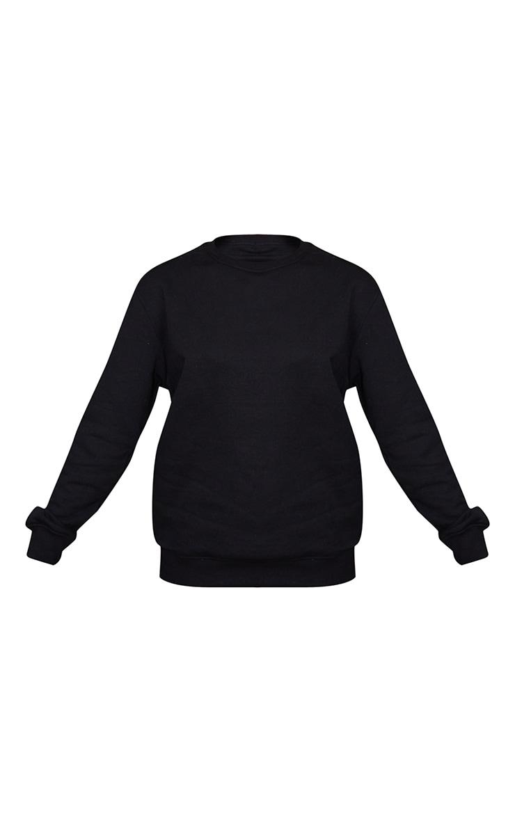 Recycled Oversized Black Sweatshirt 5